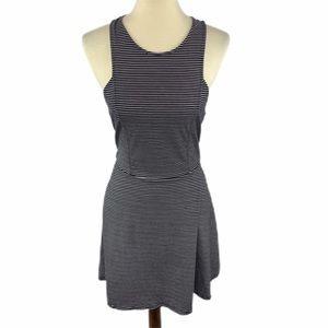American Eagle Black White Stripe Dress Large